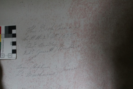 1835 graffiti in the Chapter Room